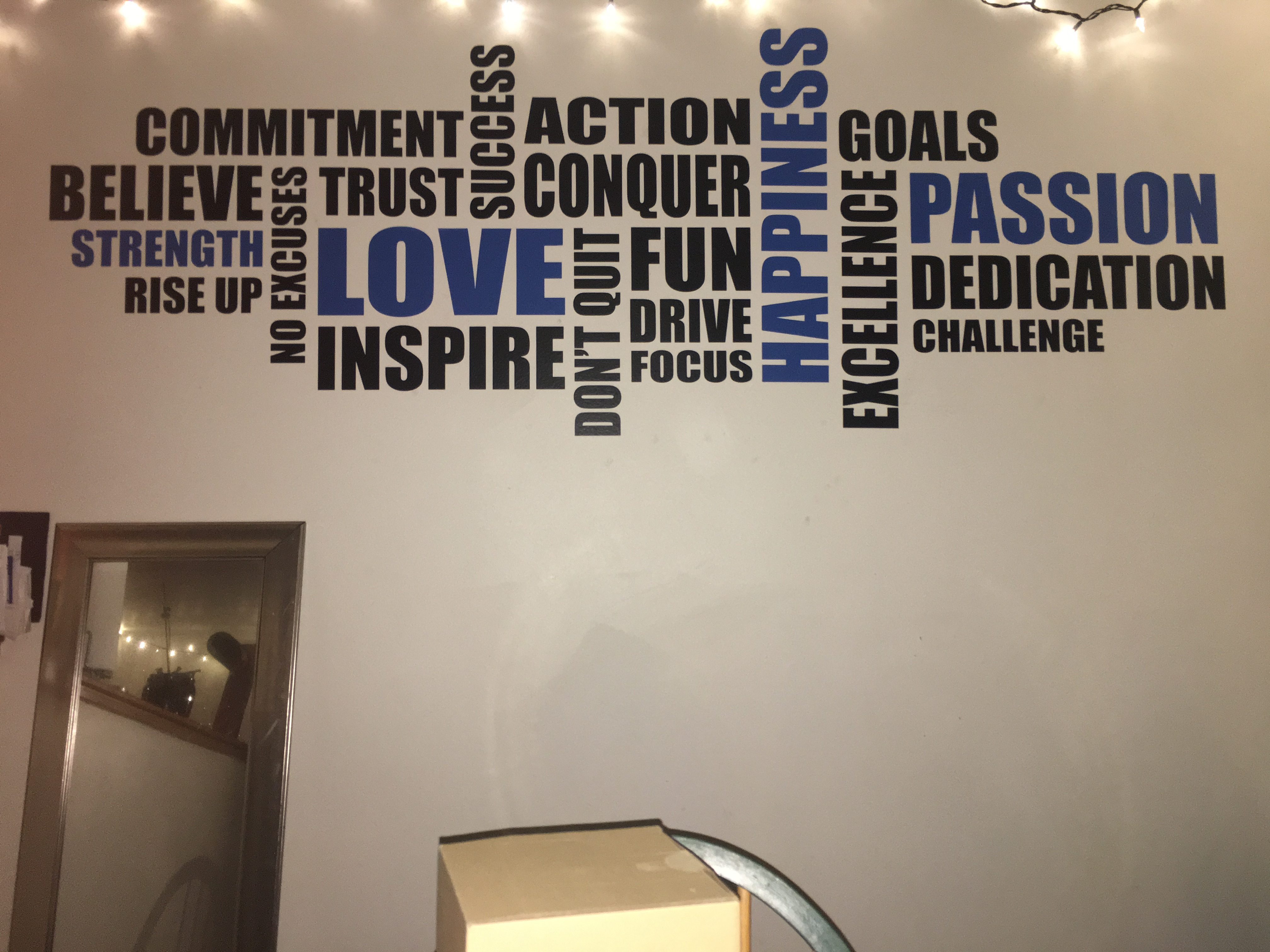 Wall Lettering and inspirational quotes