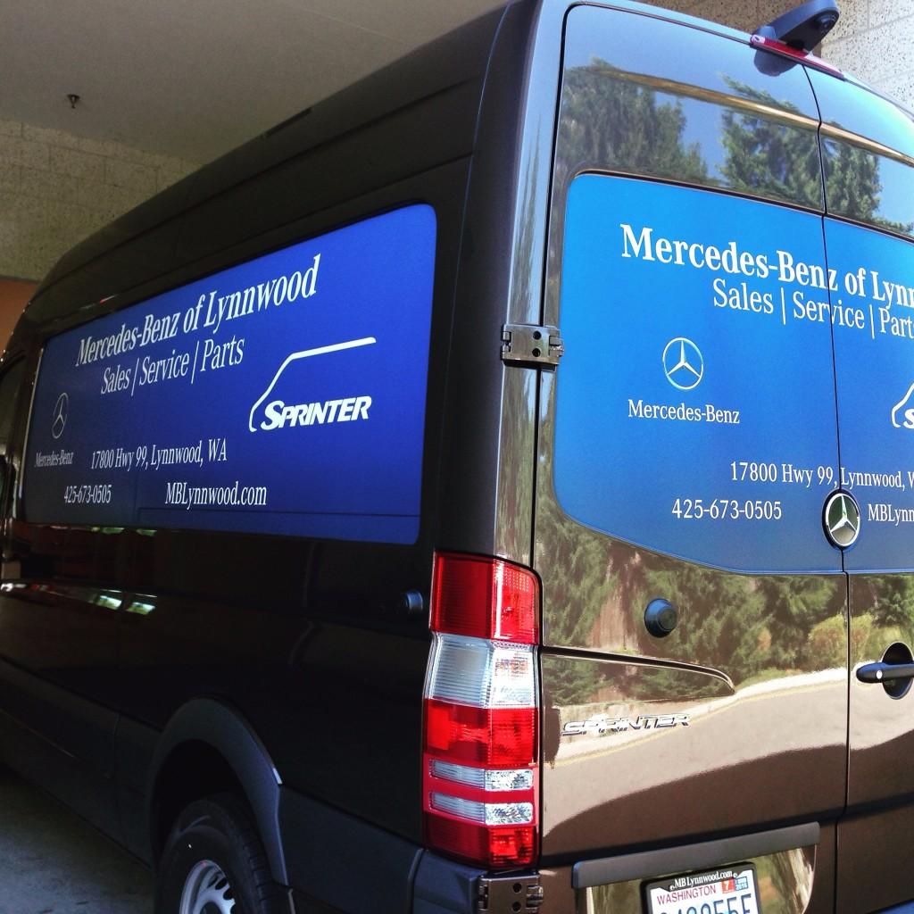 van fleet wrap vinyl graphic