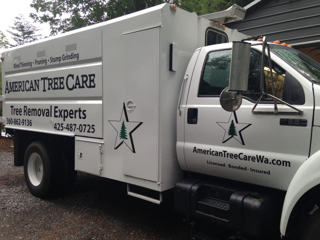 Custom Vehicle Graphics for American Tree Care of Snohomish