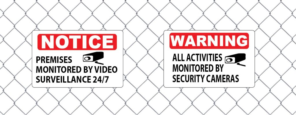 Custom Aluminum Notice and Warning signs by Vinyl Lab NW