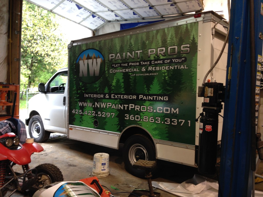 Truck Wrap for NW Paint Pros of Clearview by Vinyl Lab NW