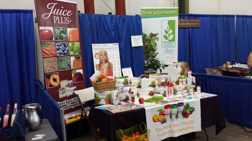 Juice Plus Banner and Stands at Trade Show