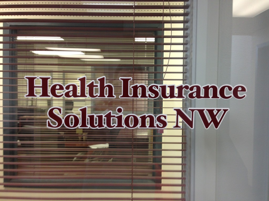 Health Insurance Solutions NW window graphics