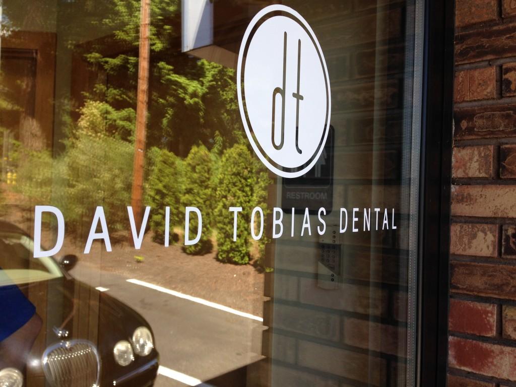 Tobias Dental door window vinyl graphics