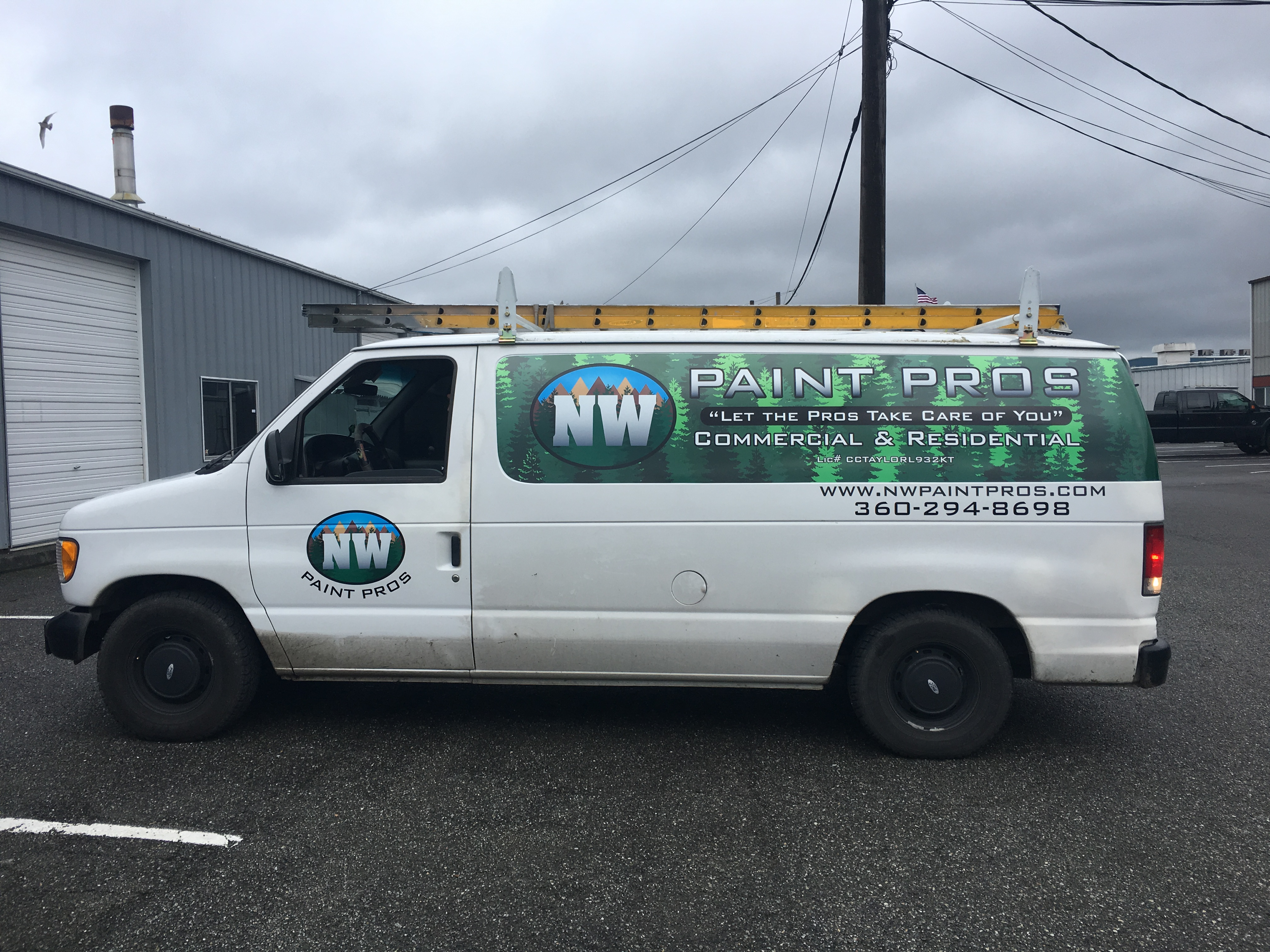 Van Graphics - Partial Wrap for NW Paint Pros