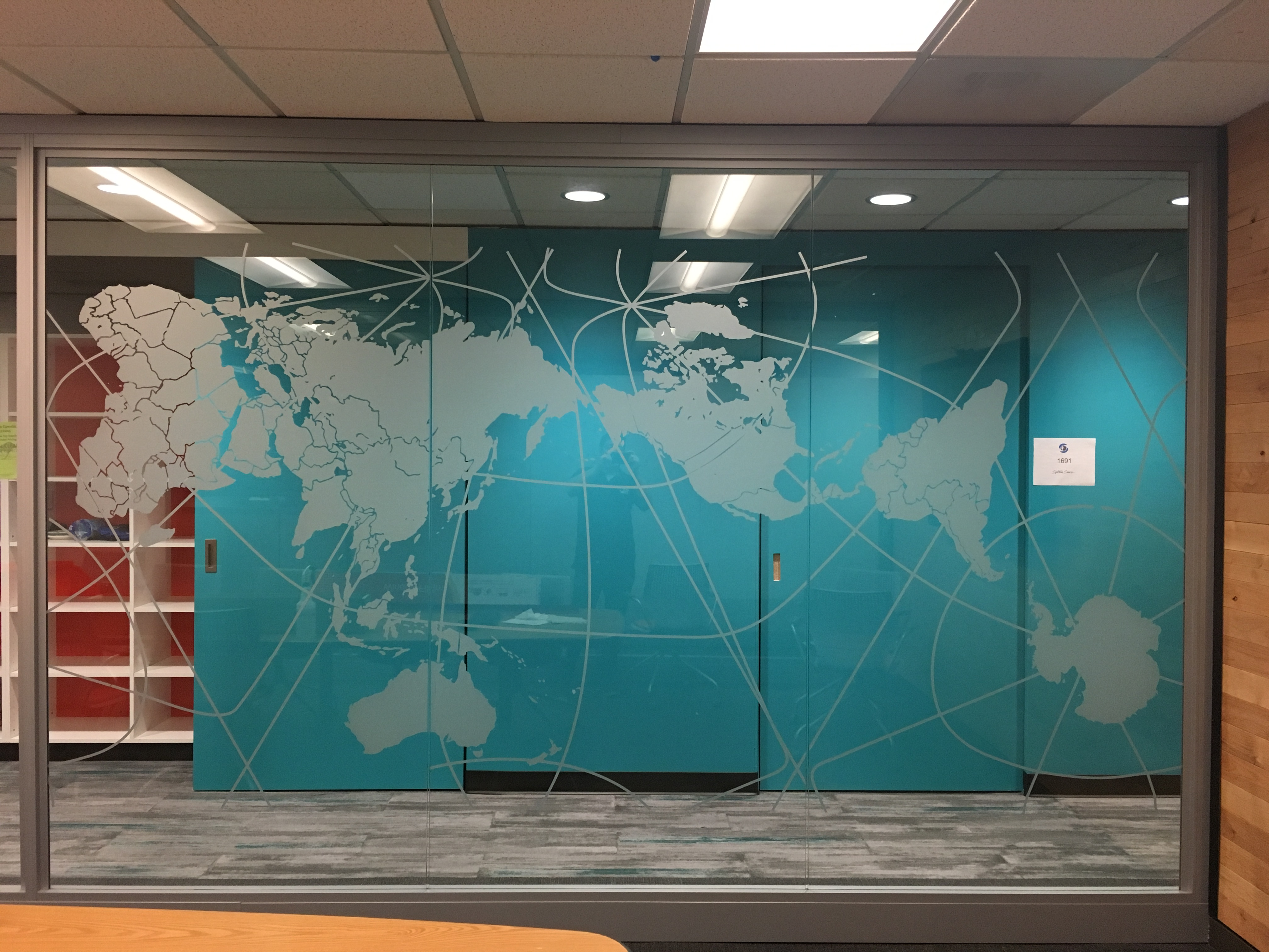 Privacy film and Vinyl Window Graphics in Seattle