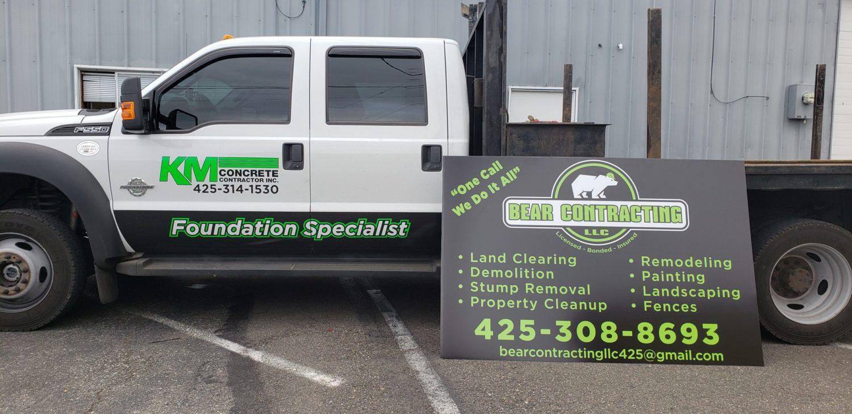 truck graphics alupanel sign graphics