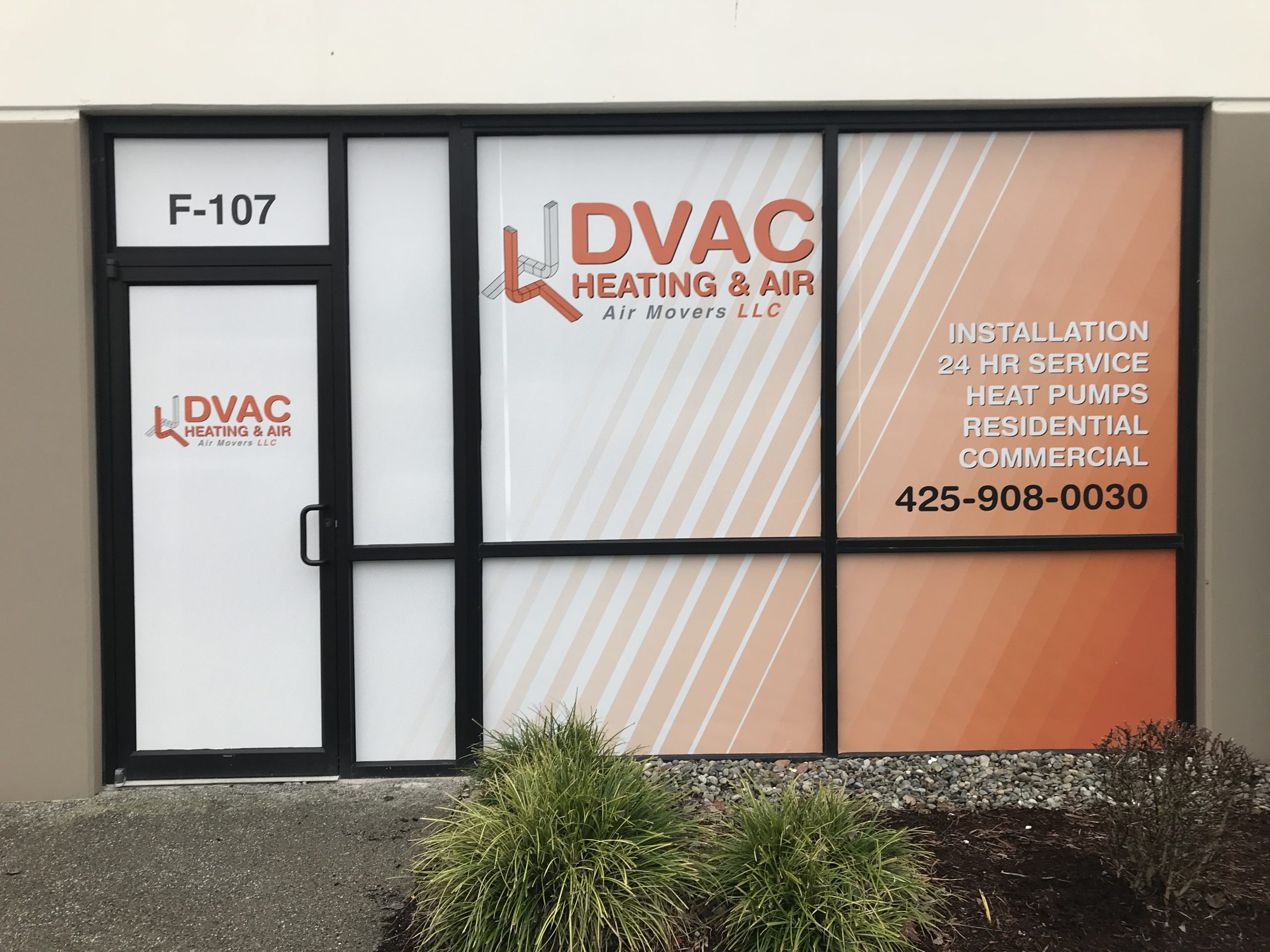 perforated window graphics bothell dvac vinyl